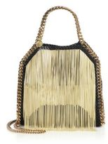 Stella McCartney Falabella Mini Baby Bella Chain-Fringed Faux Leather Tote
