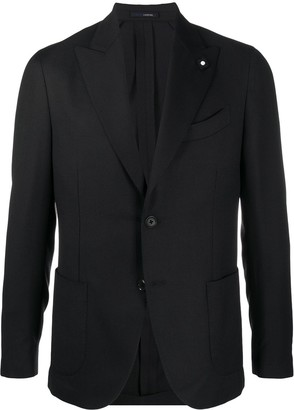 Lardini Single Breasted Peak Lapel Blazer