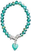 Murano Martick Heart & Crystal Bracelet