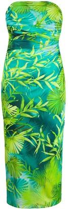 Versace Jungle print midi dress