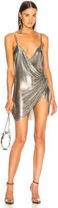 Fannie Schiavoni Mesh Dress in Silver | FWRD