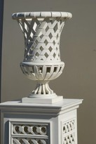 The Well Appointed House Elysee Garden Vase in White