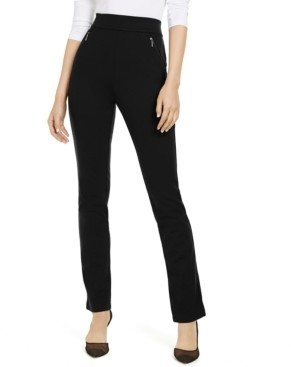 INC International Concepts Inc Petite High-Rise Zip-Pocket Pants, Created for Macy's