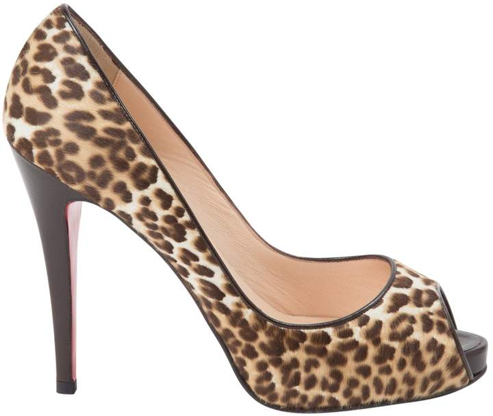 Christian Louboutin Very Privé pony-style calfskin heels