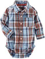 Osh Kosh Baby Boy Plaid Button-Down Bodysuit