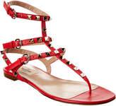 Valentino Rockstud Caged Leather Ankle Strap Sandal