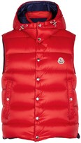Moncler Billercart red quilted shell gilet