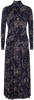 Victoria Victoria Beckham Cabaret printed jersey midi dress