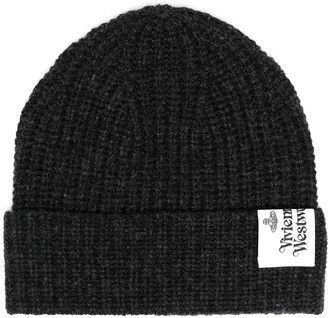 Vivienne Westwood Wool Knit Logo Patch Beanie