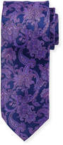 Stefano Ricci Large Paisley Printed Silk Tie
