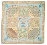 Hermes Ciels Byzantins Silk Pocket Square