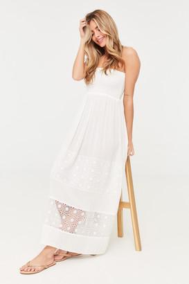 Ardene Strapless Maxi Crochet Dress