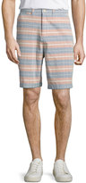 Jachs NY Faded Stripe Cotton Shorts, Red