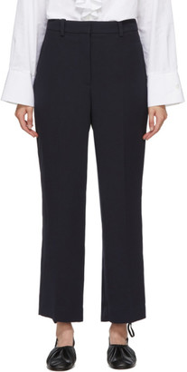 3.1 Phillip Lim Navy Cady Heavy Relaxed Trousers