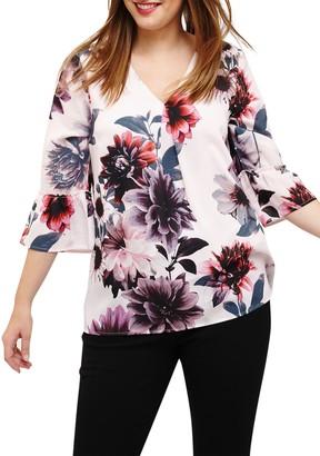 Studio 8 Phoebe Floral Print Top, Pink/Multi