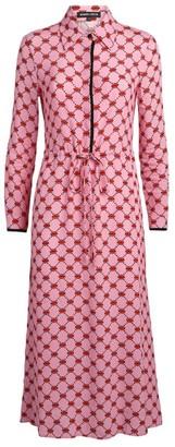 Markus Lupfer Mini Lip Print Dress
