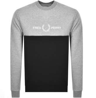 Fred Perry Crew Neck Logo Sweatshirt Grey