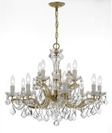 Swarovski House Of Hampton Milan 12-Light Candle Style Tiered Chandelier House of Hampton Crystal Type/Finish Spectra/Gold