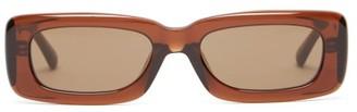 Linda Farrow X The Attico Mini Marfa Acetate Sunglasses - Brown
