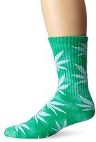 HUF Men's Tie Dye Plantlife Crew Socks