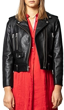 Zadig & Voltaire Lenni Butterfly Leather Jacket