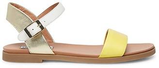 Steve Madden Dina Flat Sandals (Yellow Multi) Women's Sandals