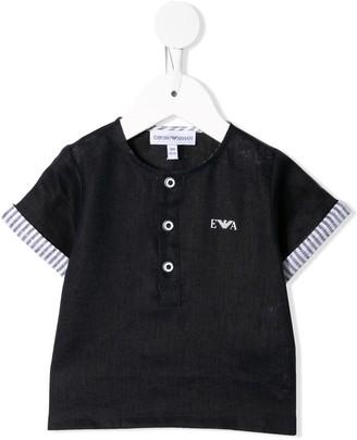 Emporio Armani Kids Half-Button Front Shirt