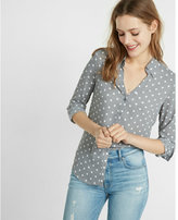 Express Slim Fit Polka Dot Portofino Shirt