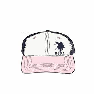 U.S. Polo Assn. U.S. Polo Association Women's Adjustable Curved Brim Baseball Cap Pink