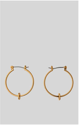 Whistles Textured Disc Charm Hoop
