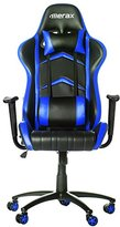 Merax Racing Style PU Leather Office Chair 180 Degree Back Adjustment Swivel Computer Gaming Chair Executive Chair, Black/Blue
