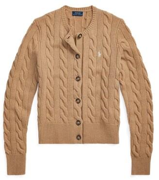 Ralph Lauren Buttoned Wool-Blend Cardigan - Size XS