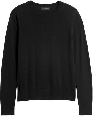 Banana Republic Washable Merino Crew Sweater-Neck Sweater