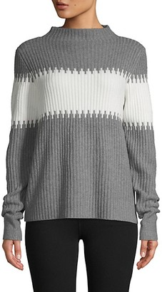 French Connection Funnel-Neck Colorblock Pullover