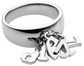 Diesel Fonts Ring (9.0, Silvertone Polished Stainless Steel)