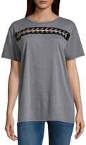 Arizona Short Sleeve Round Neck T-Shirt-Womens Juniors