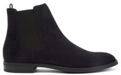 Italian-made Chelsea boots in calf suede