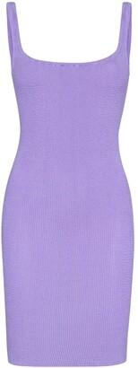 Hunza G Fitted Tank Mini Dress