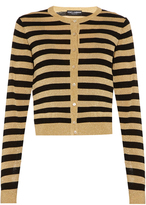 Dolce & Gabbana Metallic-stripe fine-knit cardigan