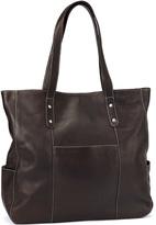 Le Donne Café Large Pocket Leather Tote