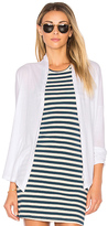 Bobi Light Weight Jersey Cardigan in White. - size S (also in )