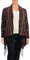 Jessica Simpson Plus Fringed Stripe-Stitch Cardigan