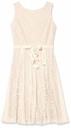 Julian Taylor Women's Crochet Lace Fit and Flare Dress