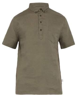Onia Josh Slubbed-linen Shirt - Mens - Khaki