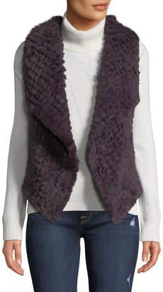 Bagatelle Draped Open-Front Faux-Fur Vest