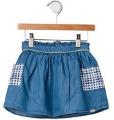 Paul Smith Girls' Gingham Print Denim Skirt