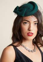 Collectif Upper West Stride Wool Fascinator in Emerald
