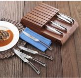 Cangshan N1 Series German Steel Forged 8-Piece Steak Knife Set with Solid Acacia Wood Block