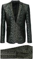 Les Hommes leopard print suit