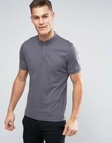 Calvin Klein Jersey Collarless Polo Shirt